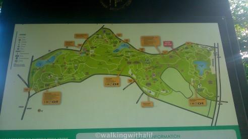 Botanic Gardens map
