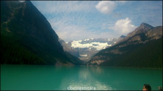 Lake Louise in its glory, early August 2014