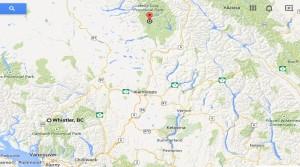 GoogleMap - Vancouver to Wells Gray