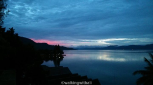 Sunset on Day 1 on Lake Toba. Loving it and absorbing it.