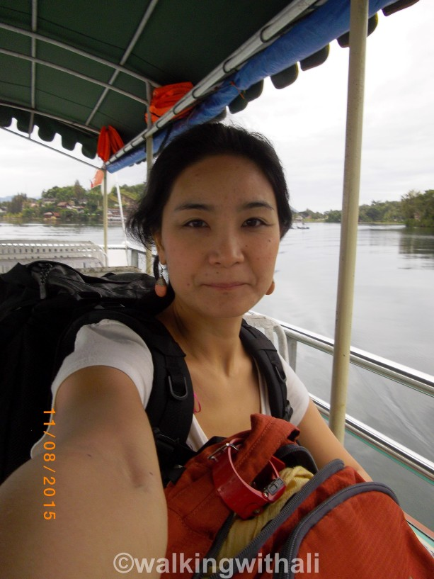 First selfie on the trip....waiting to alight. I was the last off the boat.