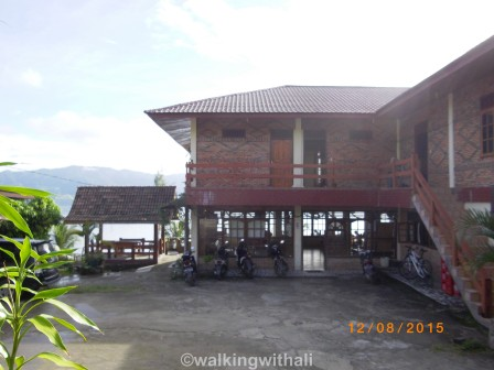The restaurant and reception from the entrance.