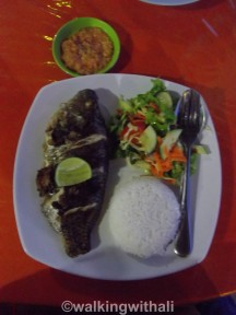 Have to try: grilled fish Batak style. it comes with the batak sauce chilli.