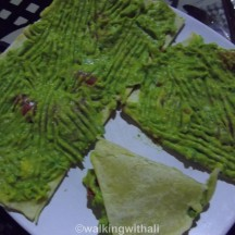 Chapati guacamole. Interesting and not bad. I didn't finish it though as it was too much.