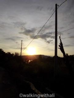 Sunrise on a morning run.