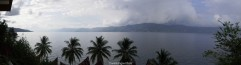 Paronomic view of the lake from my balcony.
