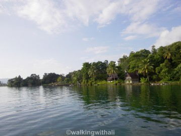 Leaving Lake Toba. On the way from Mas to Parapat.